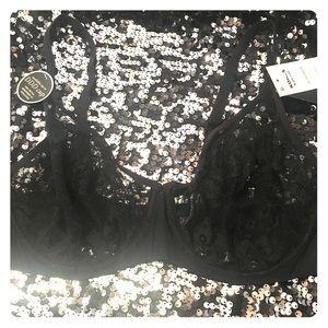 Sexy Black Lace Bra with Underwire 38C